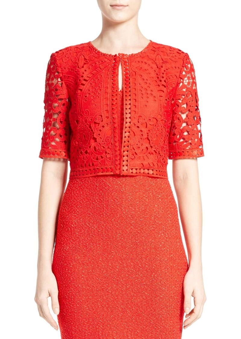 St. John Collection Embroidered Lace Jacket