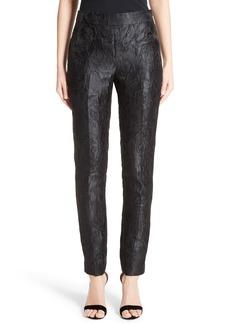 St. John Collection Emma Avani Rose Jacquard Pants