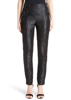 St. John Collection Emma Avani Rose Jacquard Pants