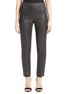 St. John Collection Emma Diamond Jacquard Crop Pants