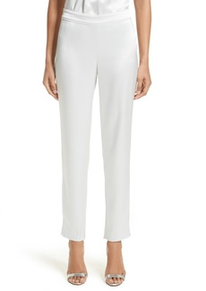 St. John Collection Emma Liquid Satin Crop Pants