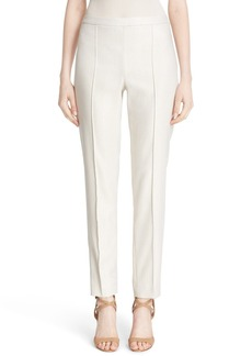 St. John Collection 'Emma' Metallic Jacquard Crop Pants