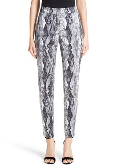 St. John Collection Emma Raja Snakeskin Print Pants