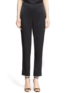 St. John Collection Emma Satin Ankle Pants