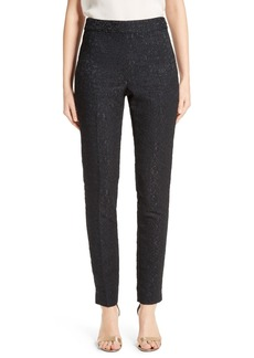 St. John Collection Emma Stretch Lace Jacquard Skinny Pants