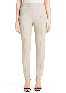 St. John Collection Emma Stretch Piqué Ankle Pants