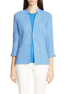 St. John Collection Engineered Coastal Texture Tweed Knit Jacket
