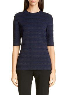 St. John Collection Engineered Lace Jacquard Sweater