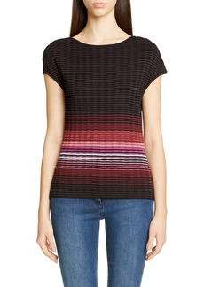 St. John Collection Engineered Ombré Rib Sweater