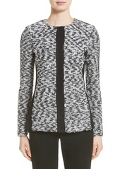 St. John Collection Eyelash Pebble Dash Tweed Knit Jacket