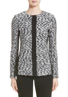 St. John Collection Eyelash Pebble Dash Tweed Knit Jacket