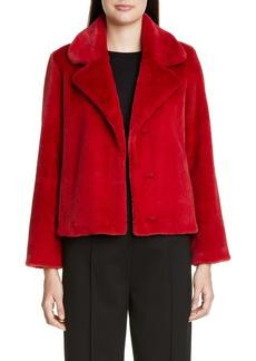St. John Collection Faux Beaver Fur Coat