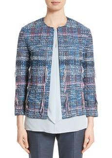 St. John Collection Fil Coupé Watercolor Placed Knit Jacket
