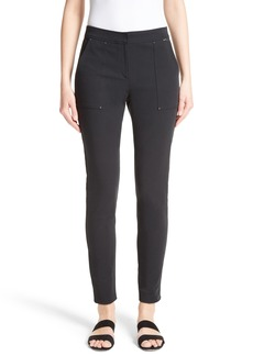St. John Collection Fine Stretch Twill Skinny Pants