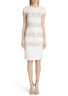 St. John Collection Flagged Stripe Knit Dress