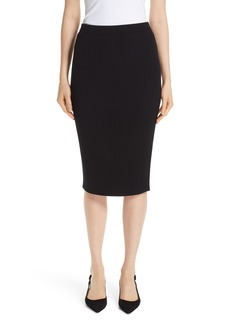 St. John Collection Flat Rib Knit Skirt