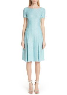 St. John Collection Flecked Sparkle Knit Dress