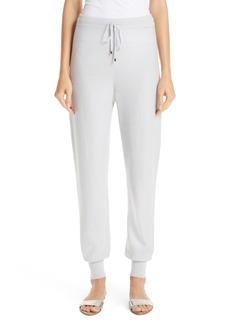 St. John Collection Float Jacquard Knit Cashmere Pants