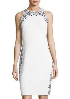 St. John Collection Flocking-Detail Shimmer Bouclé Dress