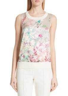 St. John Collection Floral Print Shell