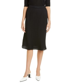 St. John Collection Fluid Viscose Plissé Knit Skirt