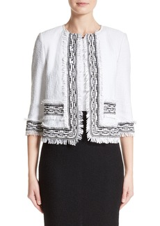 St. John Collection Fringe Clair Knit Jacket