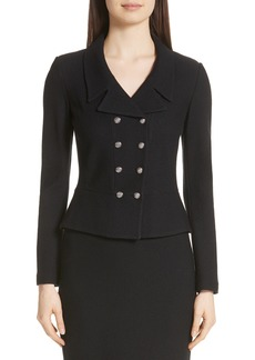 St. John Collection Gail Knit Double Breasted Jacket