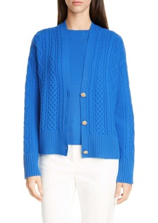 St. John Collection Galway Cable Knit Cardigan