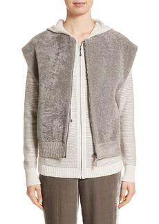 St. John Collection Genuine Shearling Vest