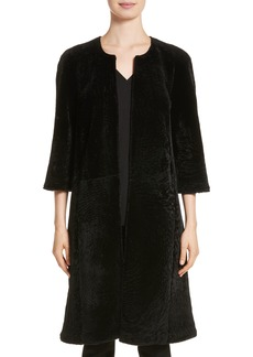 St. John Collection Genuine Textured Lamb Fur Jacket