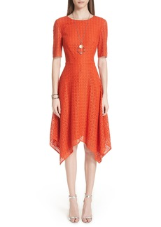 St. John Collection Geo Coated Lace Dress