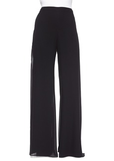 St. John Georgette Wide-Leg Pants