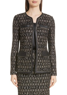 St. John Collection Gilded Eyelash Knit Jacket