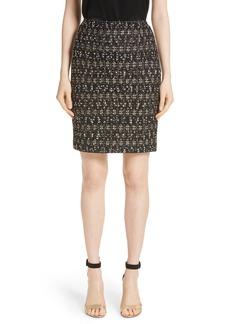 St. John Collection Gilded Eyelash Knit Skirt