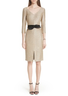 St. John Collection Glamour Sequin Knit Dress