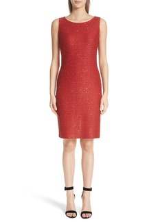 St. John Collection Glamour Sequin Knit Sheath Dress