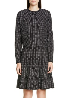 St. John Collection Graphic Ottoman Knit Jacket