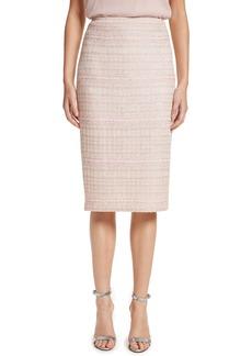 St. John Collection Guilded Pastel Knit Skirt