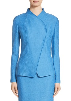 St. John Collection Hannah Knit Stand Collar Jacket