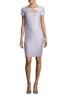 St. John Hansh Sequin-Knit Cocktail Dress