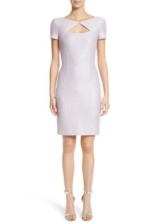St. John Collection Hansh Sequin Knit Cutout Dress