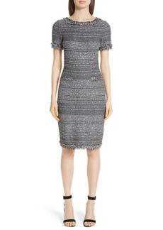 St. John Collection Heathered Glimmer Knit Dress
