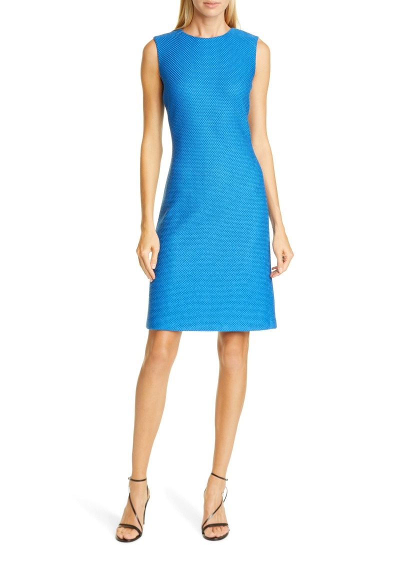St. John Collection Honeycomb Knit Sheath Dress