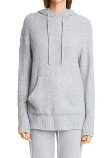 St. John Collection Hooded Cashmere & Silk Bouclé Sweater