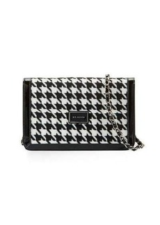 St. John Collection Houndstooth Patent Leather Shoulder Bag