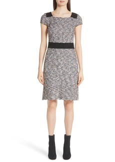 St. John Collection Inlaid Eyelash Knit Dress