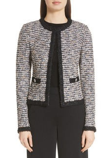 St. John Collection Inlaid Eyelash Knit Jacket