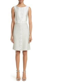 St. John Collection Jasmine Embellished A-Line Dress