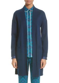 St. John Collection Jersey Cashmere Blend Sparkle Knit Jacket