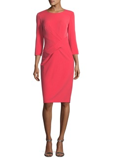 St. John Jewel-Neck Stretch-Crepe Dress